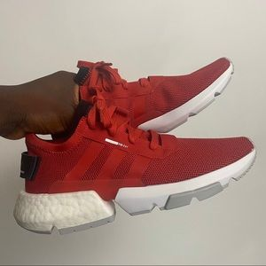 Adidas POD-S3.1 Red White Trainers. size 7
